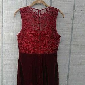 Vintage Dresses - Stunning Burgundy Retro Vintage Dress Size 10